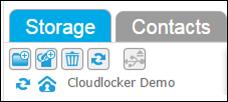 CloudLocker icon - restore in progress