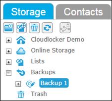 Folder tree with backup