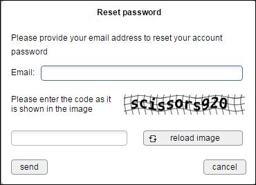 Reset password