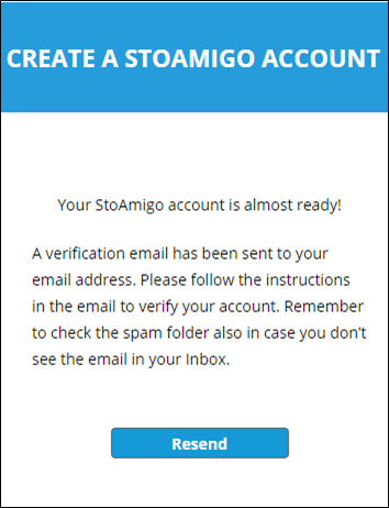 account registration (email sent) - web