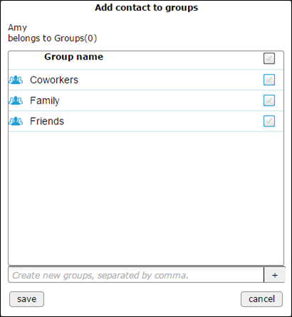 add contact to groups - blank