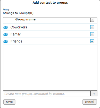 add contact to groups - populated