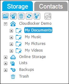folder tree - no lock