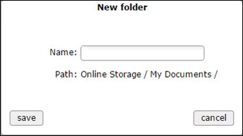 new folder window - blank