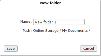 new folder window - populated