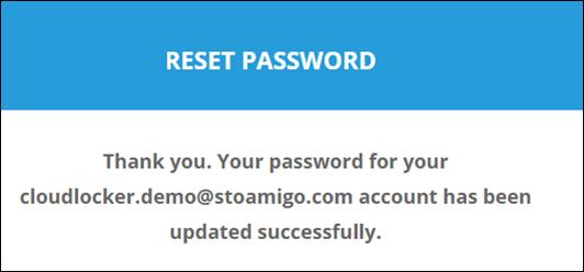 reset password updated