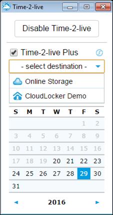 right click - TTL+ select destination