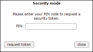 security mode - enter PIN
