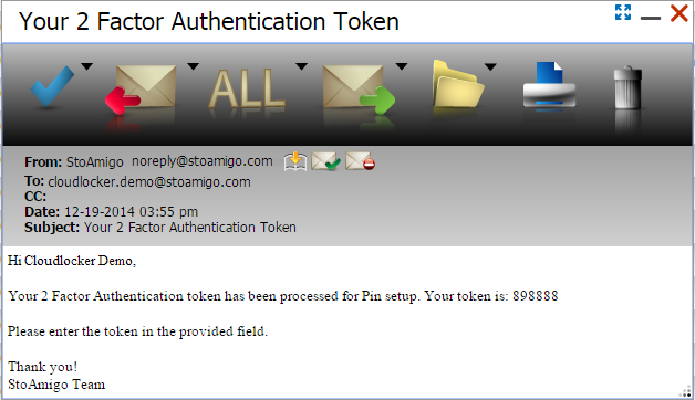Token email