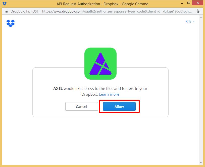 Add Dropbox - AXEL